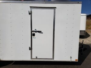 Looking at side door from outside to show size