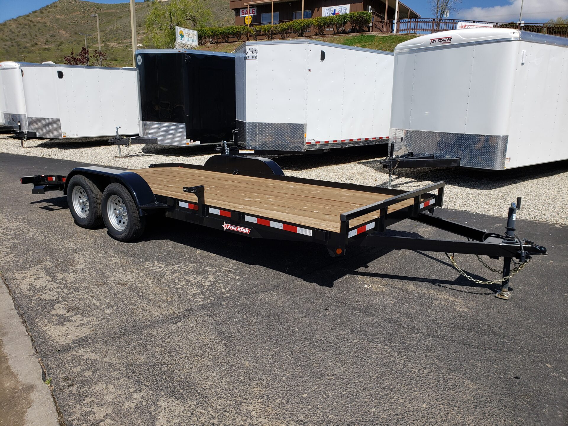 Five Star 7x18 Car Hauler-7k - Passenger side front 3/4 view