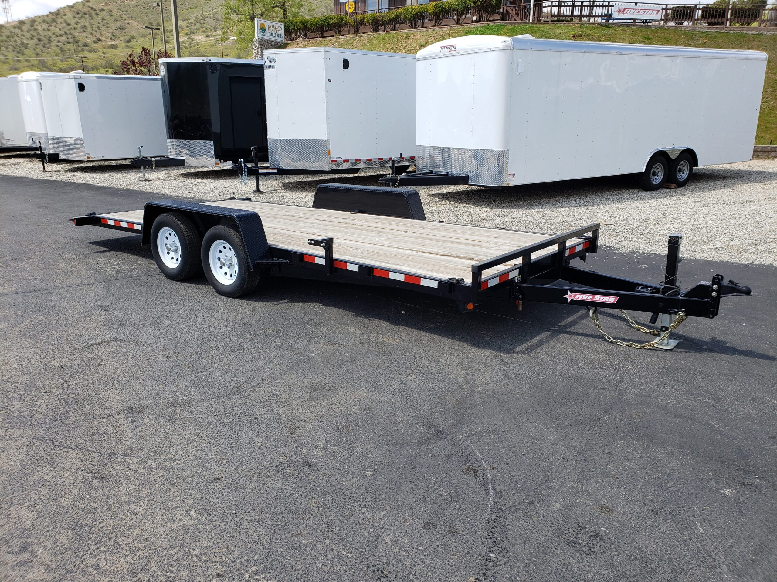 Five Star 7x18 7k Tilt-Hauler - Passenger side front 3/4 view