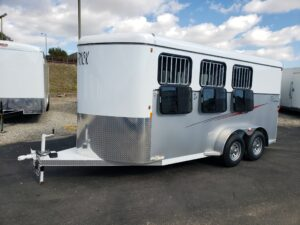 Maverick 3-H Deluxe D/D - Driver side front 3/4 view windows flipped down