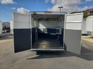 Maverick 3-H Deluxe D/D - Looking into the rear stall area with doors open