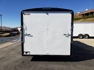TNT/Mirage 8.5x18 XCEL 10K Deal - Looking at rear door closed illustrating size