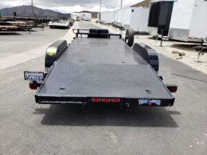 Pre-Owned TexBrag CarHauler - Rear view ramps stowed