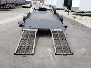 Pre-Owned TexBrag CarHauler - Rear view ramps out