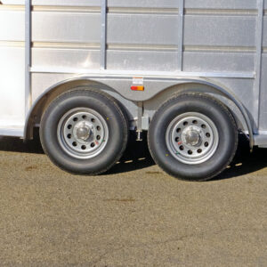 View of tandem axles