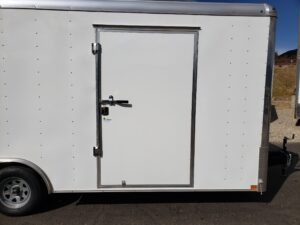 Looking at side door closed to show size