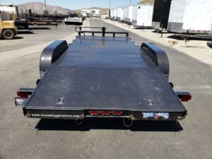 Rear view ramps stowed