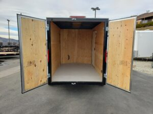 Big10 6x10 V-Nose D/D - Rear view looking through double doors
