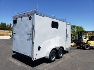 Wells Cargo 7x14 V-Nose/Cont - Passenger side rear 3/4 view