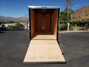 TNT 6x12 V-Nose Ramp 3K - View from outside looking through ramp door