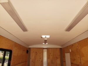TNT 8.5x16 V-Nose SPCL. - From rear door ceiling liner & lights view
