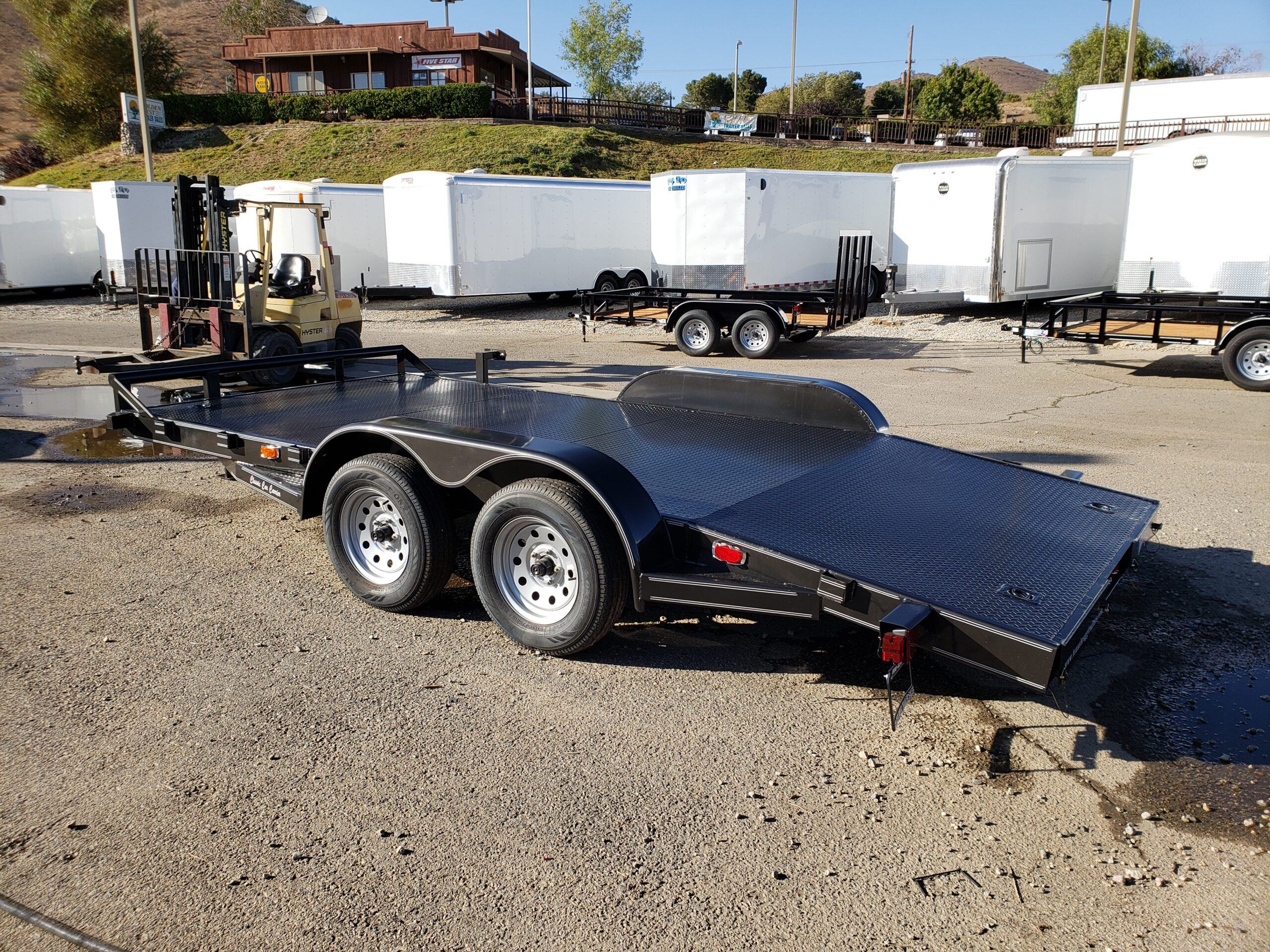 Texas Bragg 16ft Car Carrier - Driver side rear 3/4 view