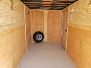 Big10 6X12 V-Nose Ramp - Closeup of rear cargo area