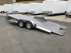 Eliminator 20ft 7K Tilt 'A' - Driver side rear 3/4 view bed tilted