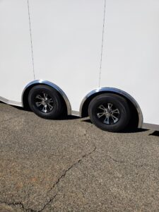 Showing tandem axle with Spitfire mags