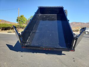 Rear view bed dumped