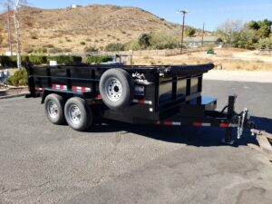 Snake River 7x14 Dump 2ft/SG - Passenger side front 3/4 view