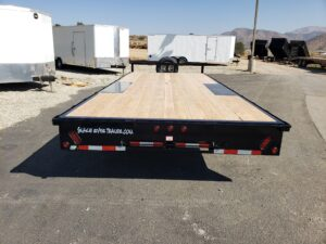 Rear view ramps stowed away
