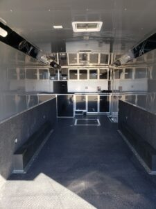 Wells Cargo 24FT MT Race - Shows interior from rear ramp