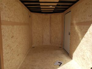 Wells Cargo 6x12 RFV-Nose D/D - Viewing interior from rear
