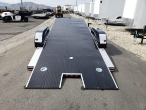 Eliminator 10K Tilt Hauler - Rear view bed tilted
