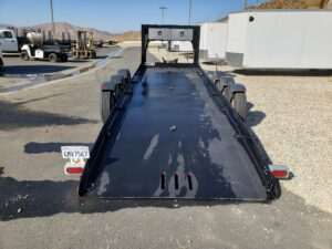 Pre-Owned Pratt Drop Deck - Rear view deck down