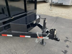 View of drop leg jack and control box