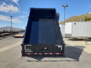 Snake River 7x12 Dump 2ft/SG - Rear view bed up