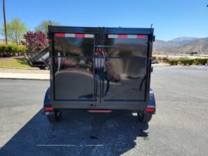 Rear view doors closed bed down