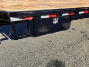 View of driver side tool box