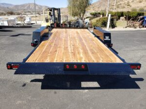 Rear view bed stowed