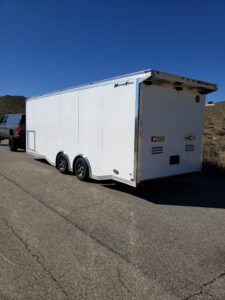 Wells Cargo 24FT MT Race - Driver side rear 3/4 view