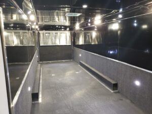 Wells Cargo MotorTrac - Shows interior from front to back