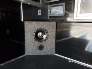 Wells Cargo MotorTrac - Looking at stereo and sub-woofer